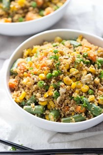"10 minute vegetable quinoa ""fried rice"""