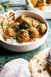 30 minute butter chicken meatballs