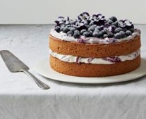 A lemony hazelnut & blueberry cake
