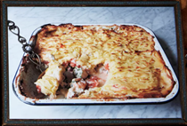 A luxurious fish pie