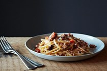 A really good spaghetti Bolognese