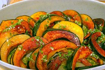Acorn squash with chile-lime vinaigrette