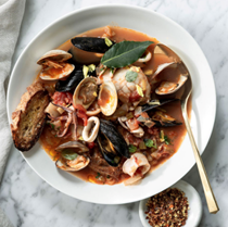 Adriatic-style seafood stew (Brodetto di pesce)