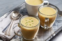 Alsatian leek and carrot soup with semolina