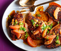 Ancho-spiced chicken with grapefruit salsa