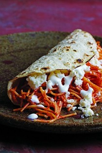 Angel hair pasta tacos