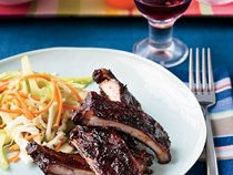 Apple-glazed barbecued baby back ribs [Chris Lilly]