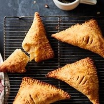 Apple turnovers with an all-cheddar crust