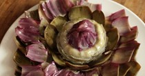 Artichoke with mustard vinaigrette
