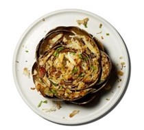 (Artichokes with) crab stuffing