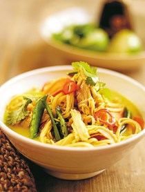 Asian chicken noodle broth