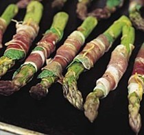 Asparagus and mint prosciutto wraps