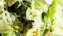 Asparagus and romaine salad with green goddess dressing