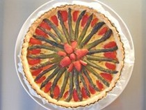 Asparagus and strawberry tart (Tarte asperge et fraise)