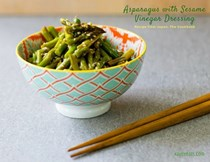 Asparagus with sesame-vinegar dressing (アスパラの胡麻酢和え)