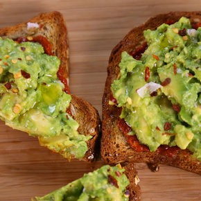 Avocado toast with harissa