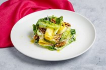 Baby gem, courgette, walnut and Parmesan salad