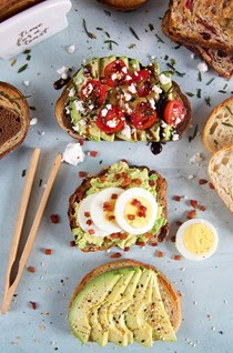 Bacon & egg avocado toast