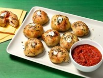 Bacon-cheese pizza bombs