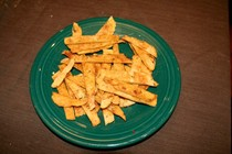 Baked cinnamon and sugar tortilla chips