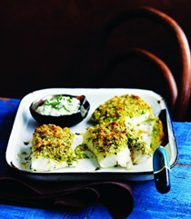 Baked fish with an herb and lemon crust