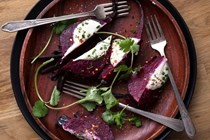 Baked-potato-style red beets