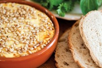Baked ricotta with pine nuts
