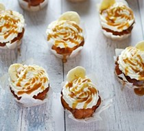 Banoffee muffins with cream & salted caramel