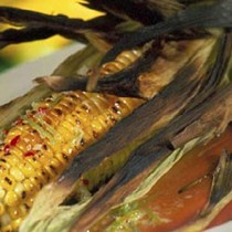 Barbecued sweet corn