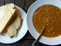 Barley and autumn vegetable soup