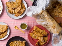 Basket tacos for a party or potluck (Tacos de canasta)
