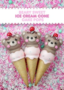 Beary sweet ice cream cones