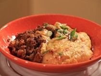 Beef & pork tamale pie with polenta topping