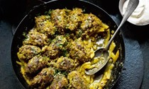 Beef meatballs with lemon and celeriac