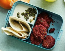 Beetroot falafel(ish) and whipped tahini wraps