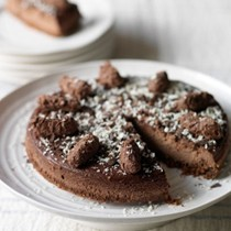 Belgian chocolate truffle cheesecake