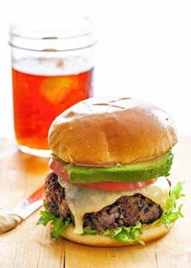 Black bean burgers with spicy mayonnaise