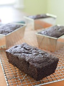 Black cocoa banana bread