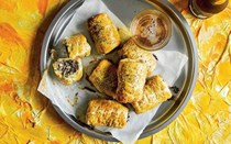 Black-pudding and apple sausage rolls