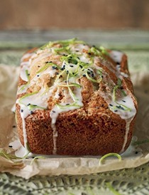 Black sesame and lime cake