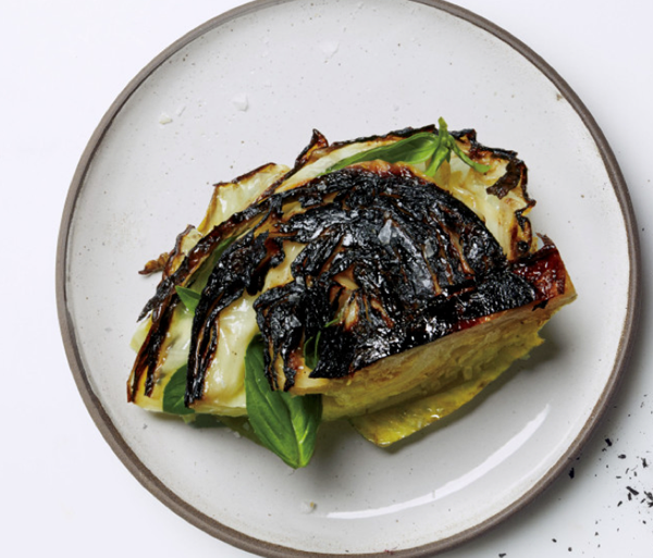 blackened cabbage