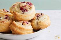 Blue cheese cranberry pastry bites