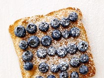 Blueberry-almond toasts