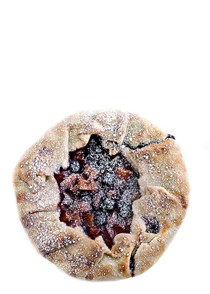 Blueberry-apricot galette