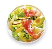 Boston and bresaola pear salad
