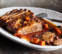 Braised brisket with carrots & prunes