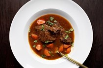 Braised short ribs with star anise and lemon grass