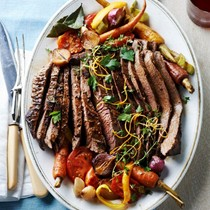 Brisket with ginger, orange peel, and tomato