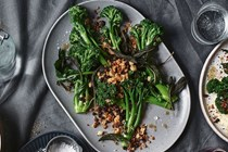 Broccolini, sage and lemon butter, currant pangrattato
