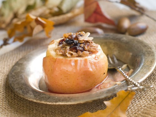 Broiled nutty apples